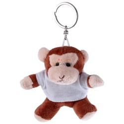 Małpka z białą koszulką pod nadruk, brelok