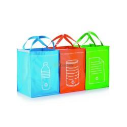 Zestaw 3 toreb do segregacji metalu, papieru i plastiku
