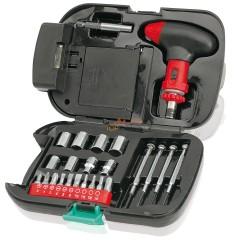 Latarka, zestaw narzędzi, 24 elementy w czarnej skrzynce