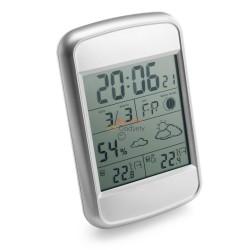 Stacja pogodowa z czujnikiem zewnętrznym, zegar, fazy księżyca, prognoza pogody