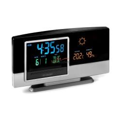 Stacja pogodowa, zegar, alarm, kalendarz, wskazuje temperaturę, wilgotność powietrza