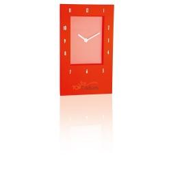 Prostokątny zegar na ścianę