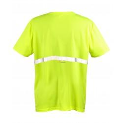 Koszulka odblaskowa z 1 pasem odblaskowym z przodu i z tyłu na wysokości pasa
