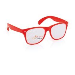Okulary bezsoczewkowe, z panelami idealnymi do nadruku full-color