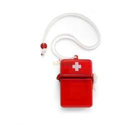 Apteczka, zestaw pierwszej pomocy w wodoszczelnym pudełku