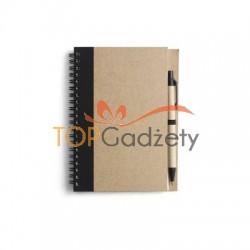 Notatnik A5 (kartki w linie) z długopisem