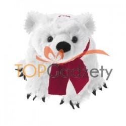 Miś polarny z czerwonym szalikiem