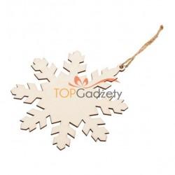 Drewniana ozdoba choinkowa w kształcie śnieżynki