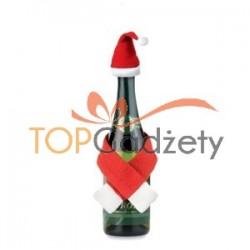 Zestaw świąteczny, czapka i szalik na butelkę