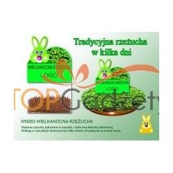 Wielkanocna rzeżucha: nasiona + kartka z drukiem reklamowym ( 6 x 6 cm)