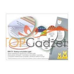 Notesy w kształcie jajek z życzeniami i przepisem kulinarnym