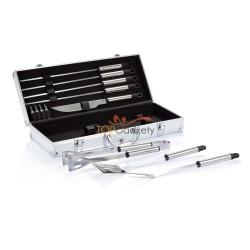 Zestaw do grilla w pudełku aluminiowym, 12 el