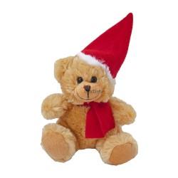 Miś świąteczny w szaliku i czapce pod nadruk