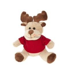 Renifer z czerwoną koszulką pod nadruk