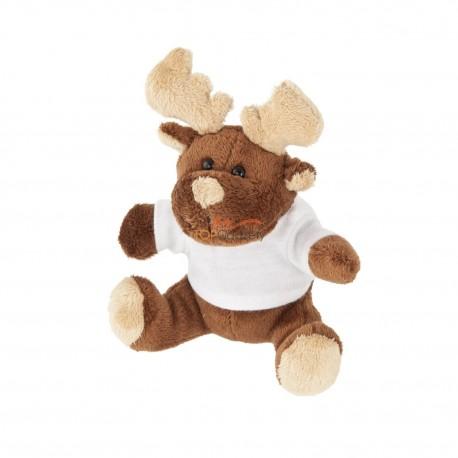 Renifer z białą koszulką pod nadruk