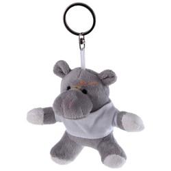 Hipopotam z białą koszulką pod nadruk, brelok