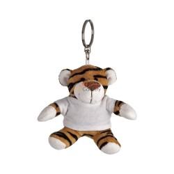 Tygrys z białą koszulką pod nadruk, brelok