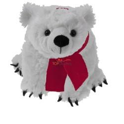 Miś polarny z czerwonym szalikiem pod nadruk